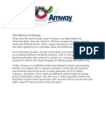 The History of Amway