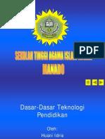 Dasar Dasar Teknologi Pendidikan