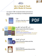 Order to Study or Teach Shaykhs Books and Courses