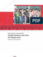 Calidad educativa como tema del diálogo social