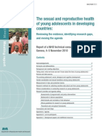 The Sexual and Reproductive Health of Young Adolescents in Developing Countries