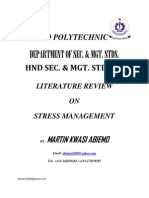 24984418 Literature Review on Stress Management by Martin Kwasi Abiemo