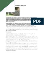 Algunas Especificaciones de Muros de Piedras Secas