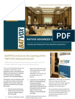 Batvox Advanced School Brochure June 2012