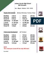 Bell Schedule 2012-2013