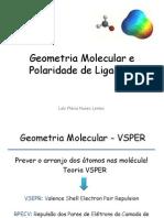 Aula 1 - Geometria Molecular e Polaridade de Ligações
