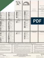 Papeleta Estatal - Elecciones 1984