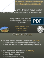 Phet Workshop AAPT Summer2007