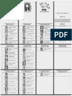 Papeleta Estatal - Elecciones 1988