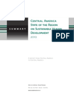 Central America State of the Region on Sustainable Human Development 2010