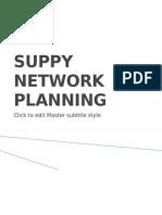 Suppy Network Planning