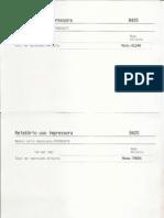 Relatório de impressão Maio2012