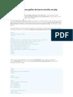 Como presentar una gráfica de barras sencilla con php