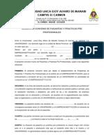 Modelo de Convenio de Pasantias y Practicas Pre Profesionales