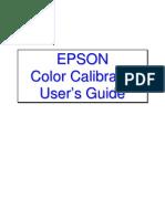 Epson Color Calibrator User's Guide