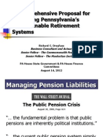 Pension Reform Presentation to PA House