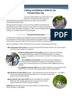 Biking & Walking in MAP-21, the Transportation Law