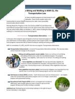 Biking & Walking in MAP-21, the Transportation Law