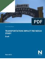 Santa Monica - Transportation Impact Nexus Study