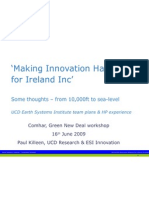 Making Innovation Happen ESI Some Ideas GND Comhar 16 June09 Summ