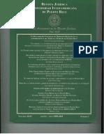 """Valenzuela-Alvarado, José-Enrico, XLIV Rev. Jur. Inter-American University Law, No.1, 197 (Aug.-May, 2009-2010)  """"Federal Civil Rights in PR"""""""