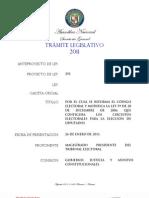 Proyecto de Ley N° 292