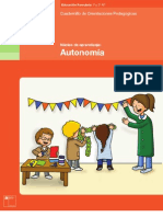 autonomía , cuadernillo de orientaciones pedagogicas