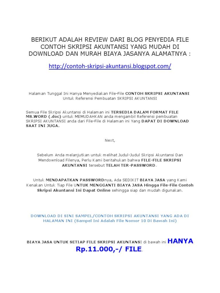 Contoh Skripsi Akuntansi Contoh Soal Dan Materi Pelajaran 2