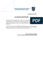 Aclaracion Stiglitz FCE-UBA