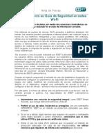 ESET lanza su Guía de Seguridad en redes Wi-Fi