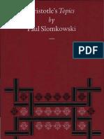 Paul Slomkowski Aristotle's Topics
