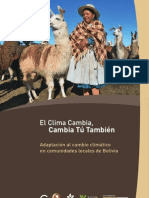 Adaptación al cambio climático en comunidades locales de Bolivia