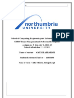 Project Management stratergies for Northumbria Engineering