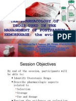 Pharmacology of Drugs for PPH