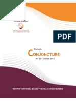 Note de Conjoncture N° 20 - Juillet 2012
