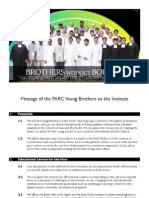 PARC Young Brothers Assembly 2012 Official Statement