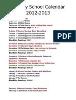 Calendar 2012-2013