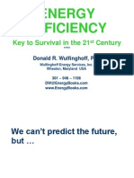 Energy Efficiency Key to Survival