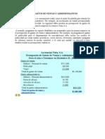 Presupuesto de Gastos de Ventas y Administrativos