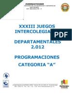 Programaciones Deportes de Conjunto Jdin Deptal a 2.012