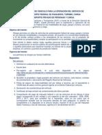 REQUISITOS PERMISOS SCT 2012