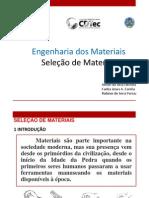 SELEÇÃO DE MATERIAIS - CARLOS