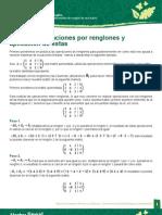 Matrices Operaciones Entre Renglones