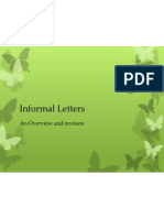 Informal Letters - An Overview