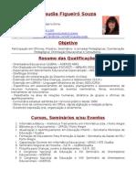Currículo Claudia Figueiró Souza