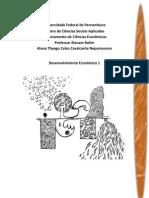 Desenvolvimento Econômico - UFPE 2012.1