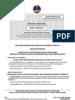 Program Peningkatan Prestasi Akademik Biologi STPM Kedah 2012 (Paper 1)