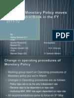 2011-12 Monetary Policy Analysis
