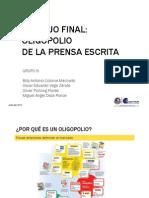 Mercado Oligopólico de la Prensa Escrita en el Perú.