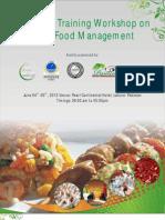 2 Days Training Workshop on Halal Food ManagementPearl Continental Hotel, Lahore, 2012